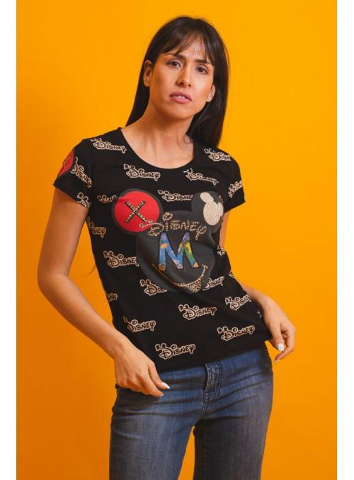 VOSSO Camiseta Disney texto strass