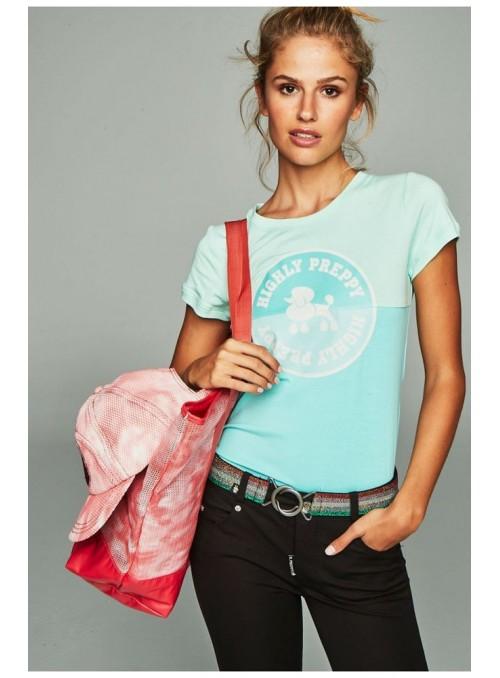 H. Preppy Camiseta círculo menta