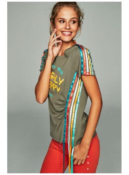 H. Preppy Camiseta cintas caqui