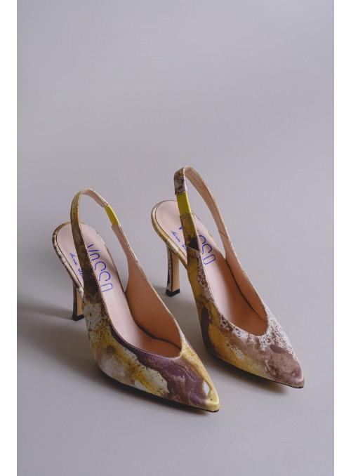 VOSSO Zapato destalonado estampado bruma