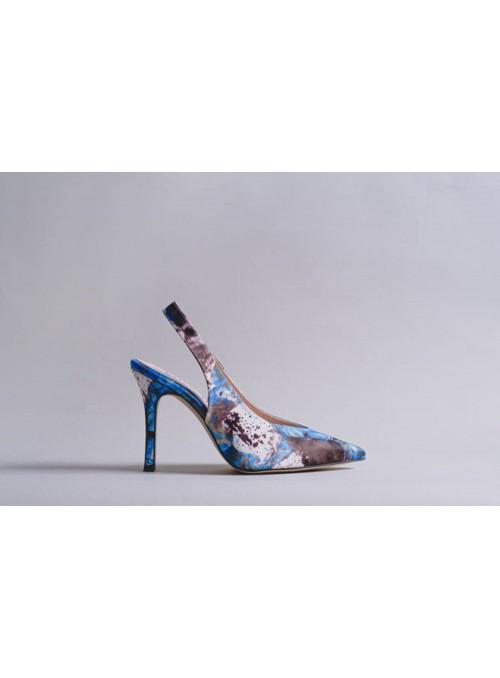 VOSSO Zapato Estampado Bruma Azul