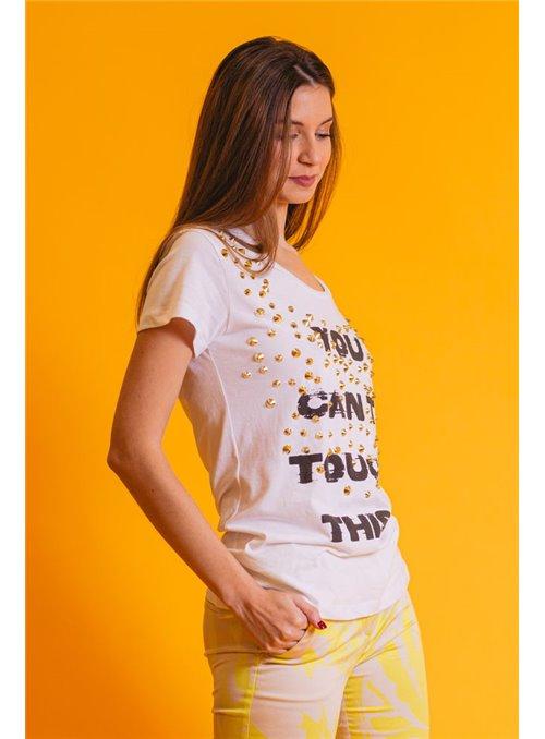 Acces Camiseta Tachuelas Blanca