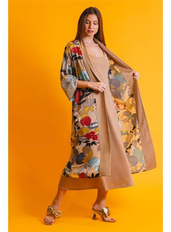 Acces Kimono Estampado Flores