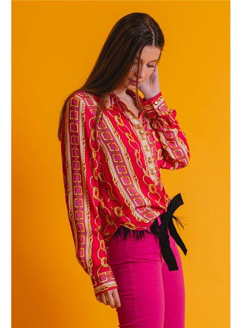 TWISTER Camisa Estampado Cadenas