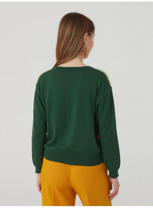 Nice Things Jersey combinado verde