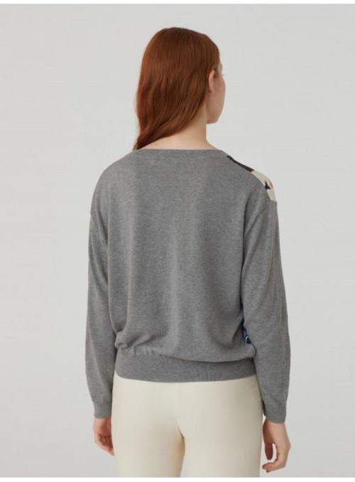 Nice Things Jersey combinado gris