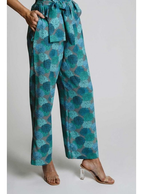 Pisonero Pantalón estampado azul
