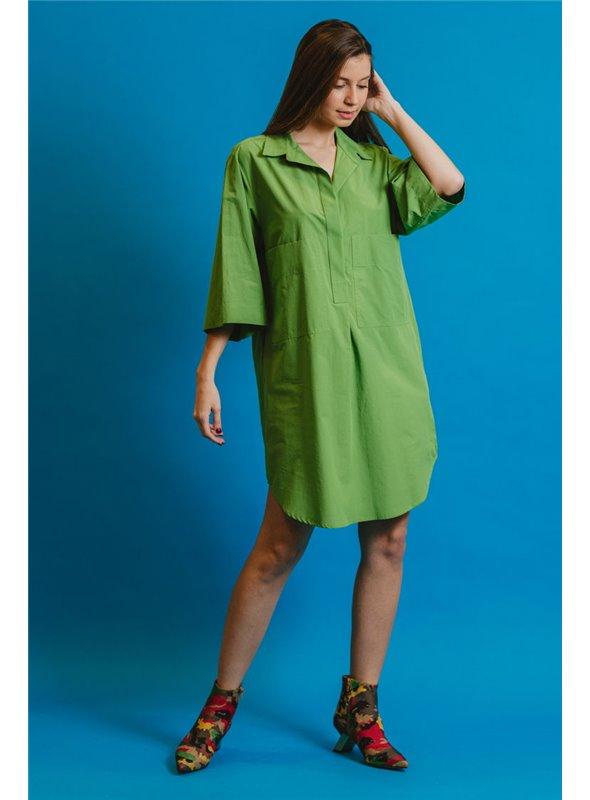 Otto d ame Vestido camisero verde