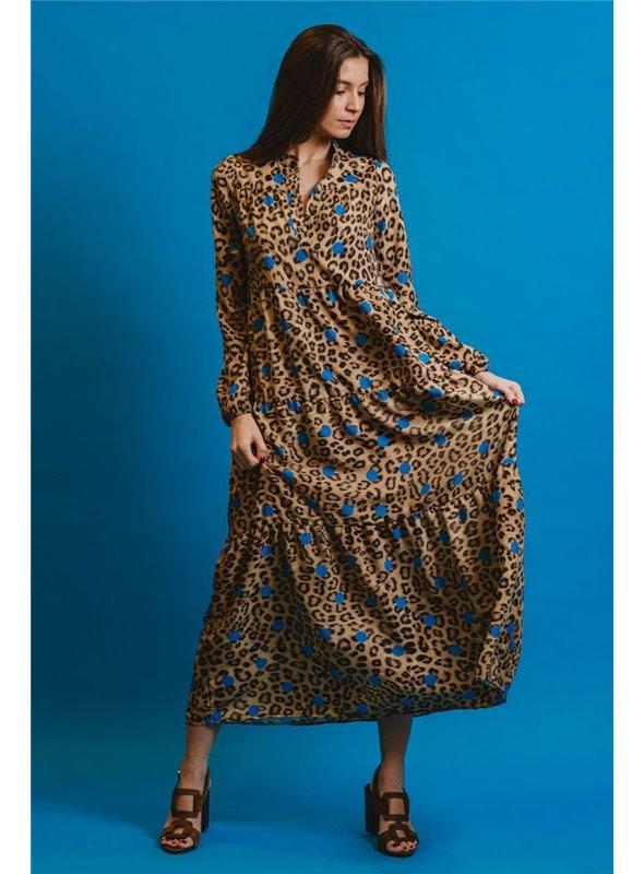 Otto d ame Vestido estampado leopardo largo