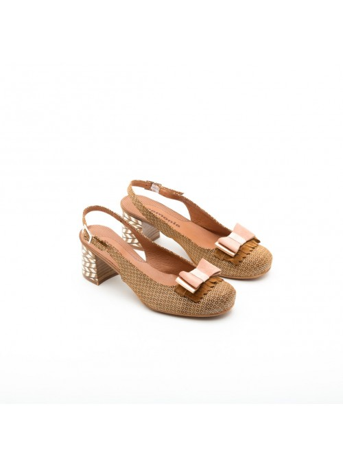 Nemonic Zapato camel lazo