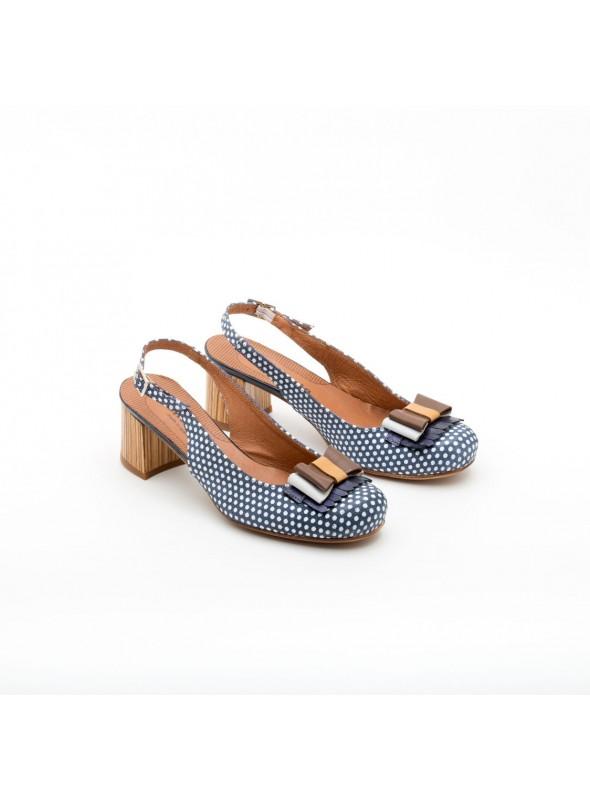 Nemonic Zapato azul lazo