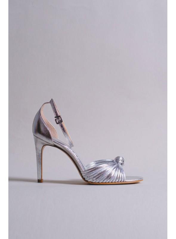 Unique Sandalia Metalizada Plata