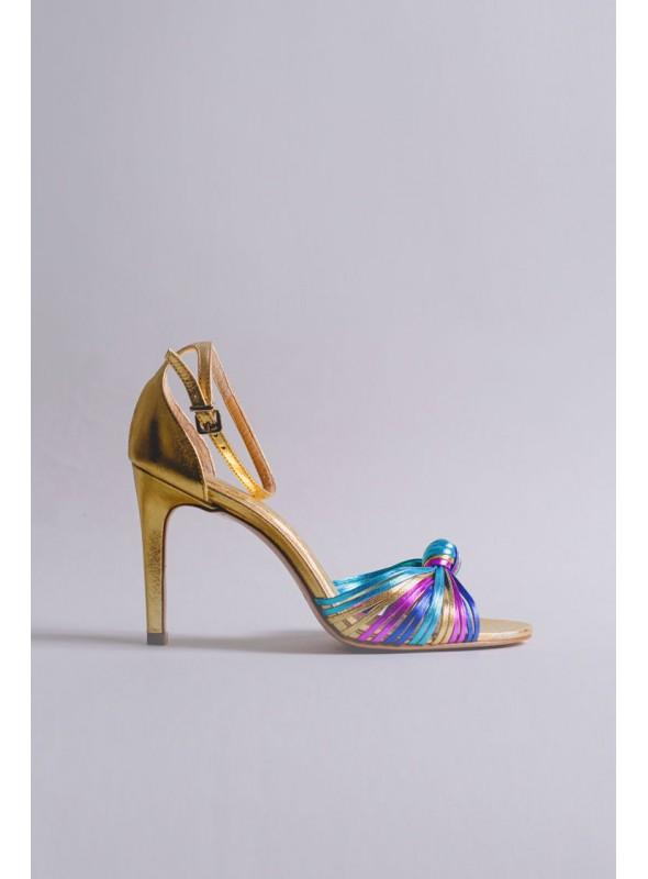 Unique Sandalia Tiras Multicolor