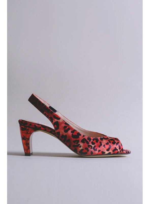 VOSSO Zapato destalonado animal print