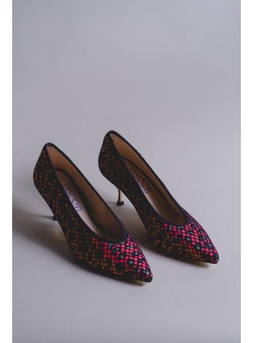 VOSSO Zapato Rejilla Print Rosa
