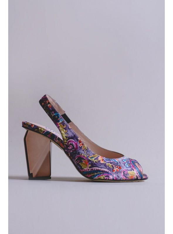 Zapato Gris Estampado Cashemire