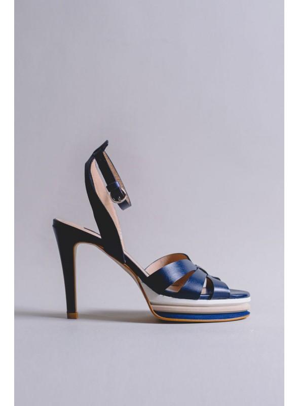 Zinda Sandalia Tiras Azul Marino