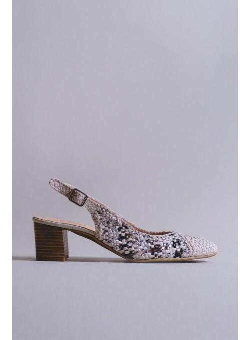 Kess Zapato Destalonado Trenzado Tricolor
