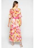 Pinko Vestido largo estampado buqué