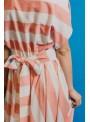 Cristina Beautiful life Vestido Rayas Blanco/Naranja