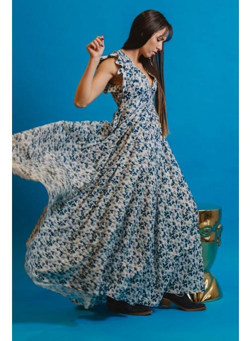 Cristina Beautiful life Vestido Flores Mangas Volantes