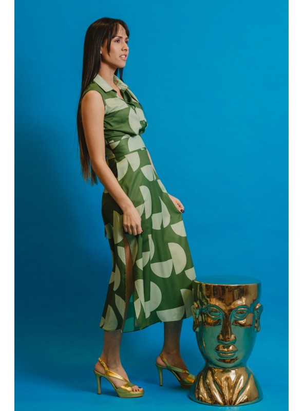 Cristina Beautiful life Vestido Estampado Verdes