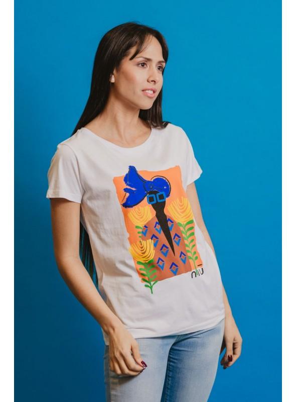 NIU Camiseta Estampado Mujer Africano