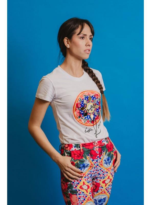 Acces Camiseta bordado espejos
