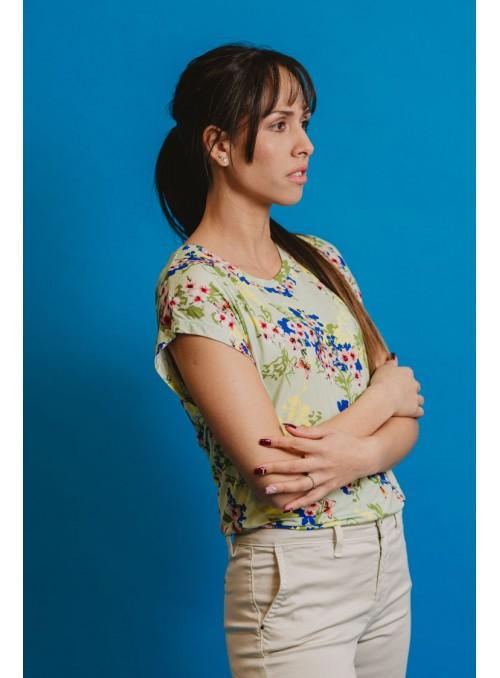 Lucky Lu Camiseta Estampado Flores