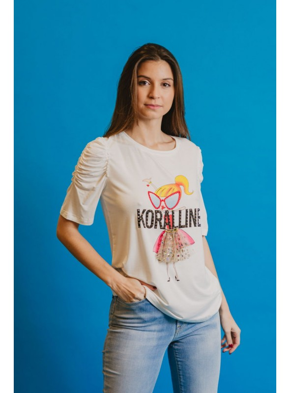 Koralline Camiseta muñeca detalle tul