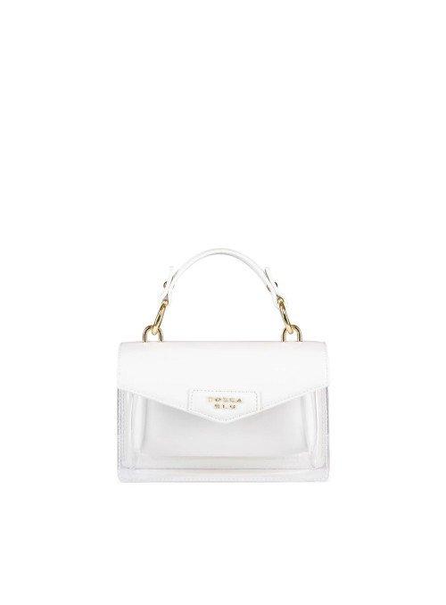Tosca Blu Bolso mini transparente blanco