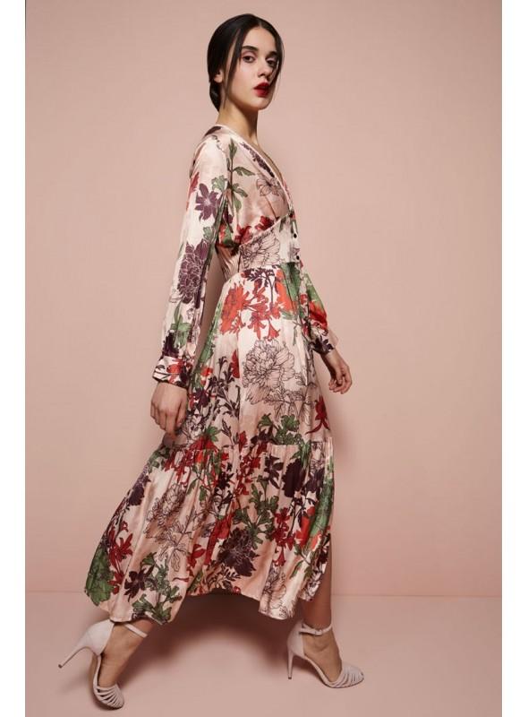 Dixie Vestido midi floral