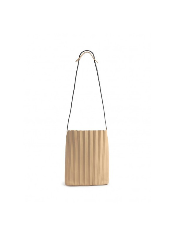 Nice Things Bolso beige plisado