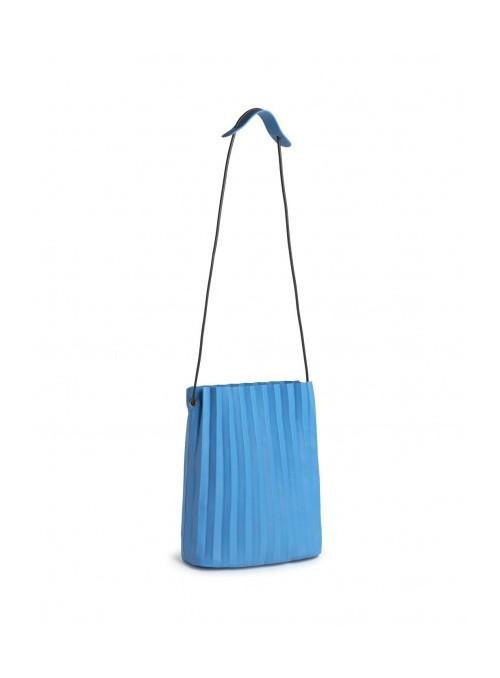 Nice Things Bolso azul plisado