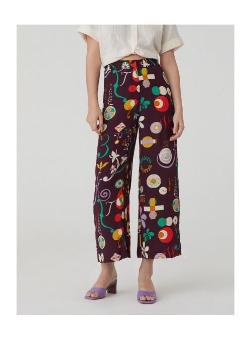 Nice Things Pantalón culotte estampado