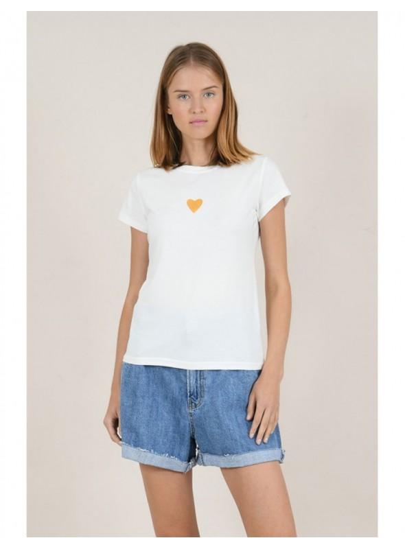 Lili Sidonio Camiseta blanca corazon