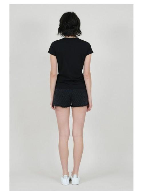 Lili Sidonio Camiseta negra corazón