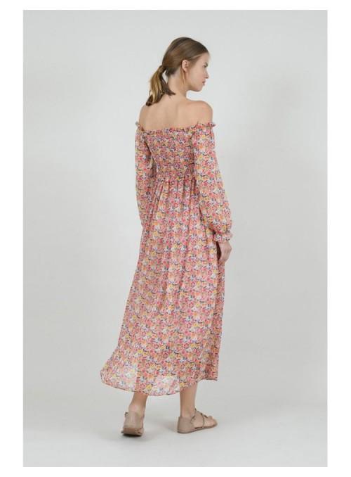 Lili Sidonio Vestido largo floral