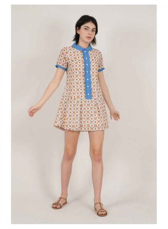 Lili Sidonio Vestido mini estampado