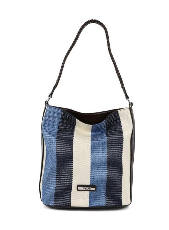 Binnari Bolso azul rayas