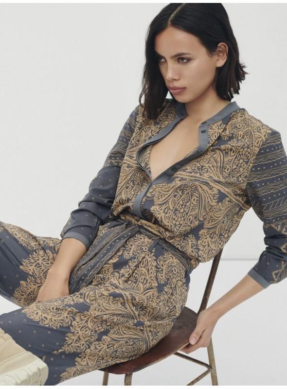 Nu Woman Blusa estampado mosaico