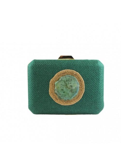 Vossochic Clutch verde cuarzo