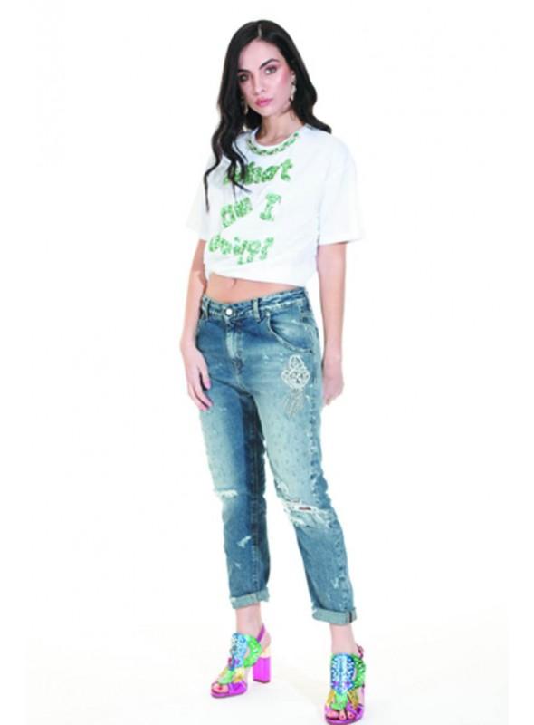 Trash and Luxury Camiseta blanca pedería