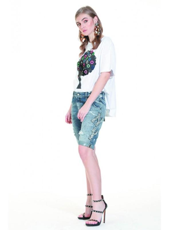 Trash and Luxury Camiseta aros multicolor