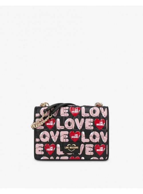 Moschino Love bolsos Bolso hombro estampado love