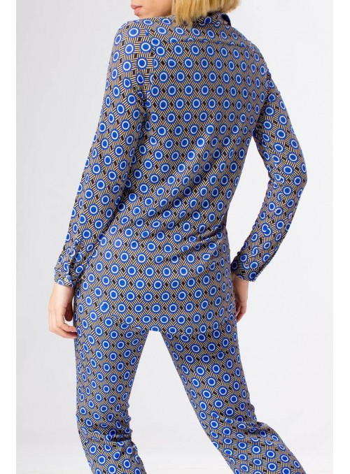 Parole Camisa estampado lunatic azul