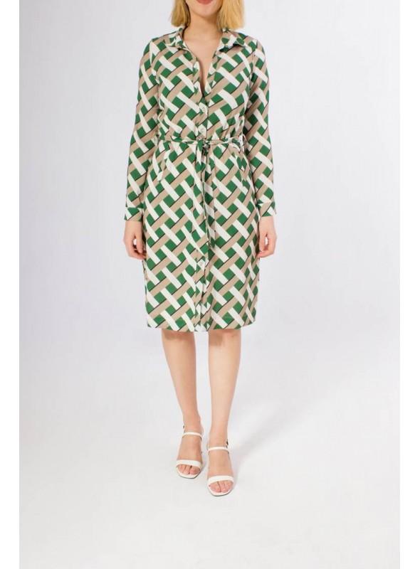 Parole Vestido estampado carlota verde