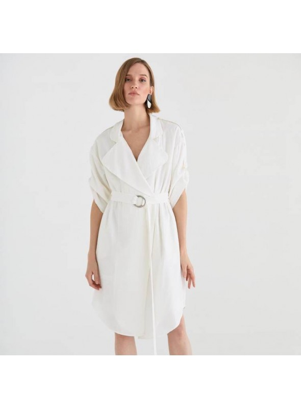 Paisie Vestido blazer blanco