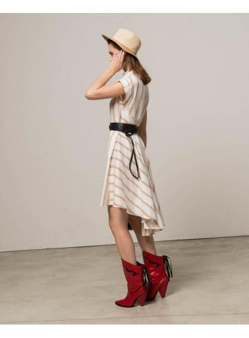 Silvian Heach Vestido asimétrico rayas