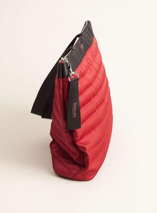 Binnari Bolso XL acolchado rojo